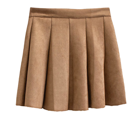 Milky suede tennis skirt