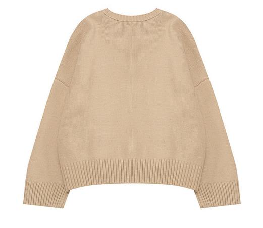 Round rico button knit
