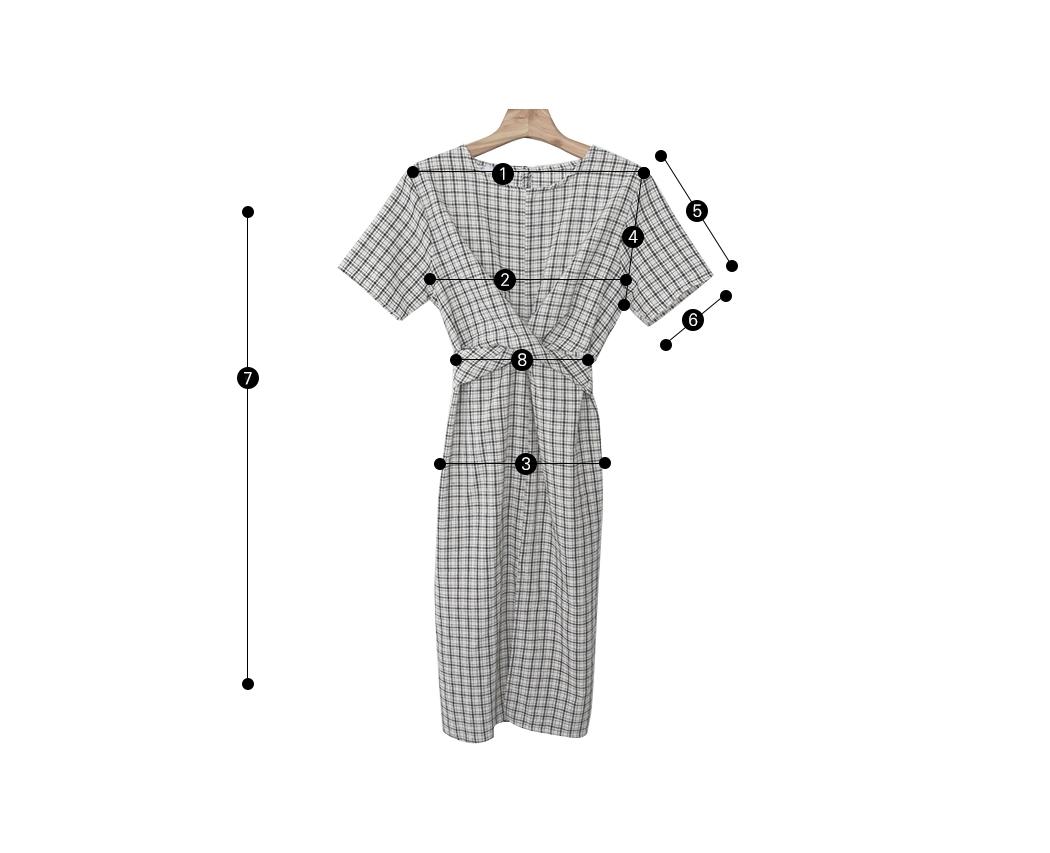 Open-check dress
