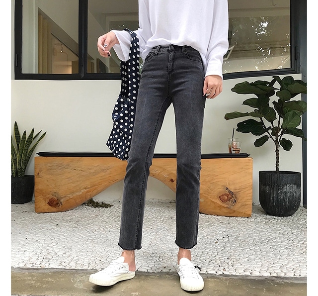 Slim Gray Fit Pants