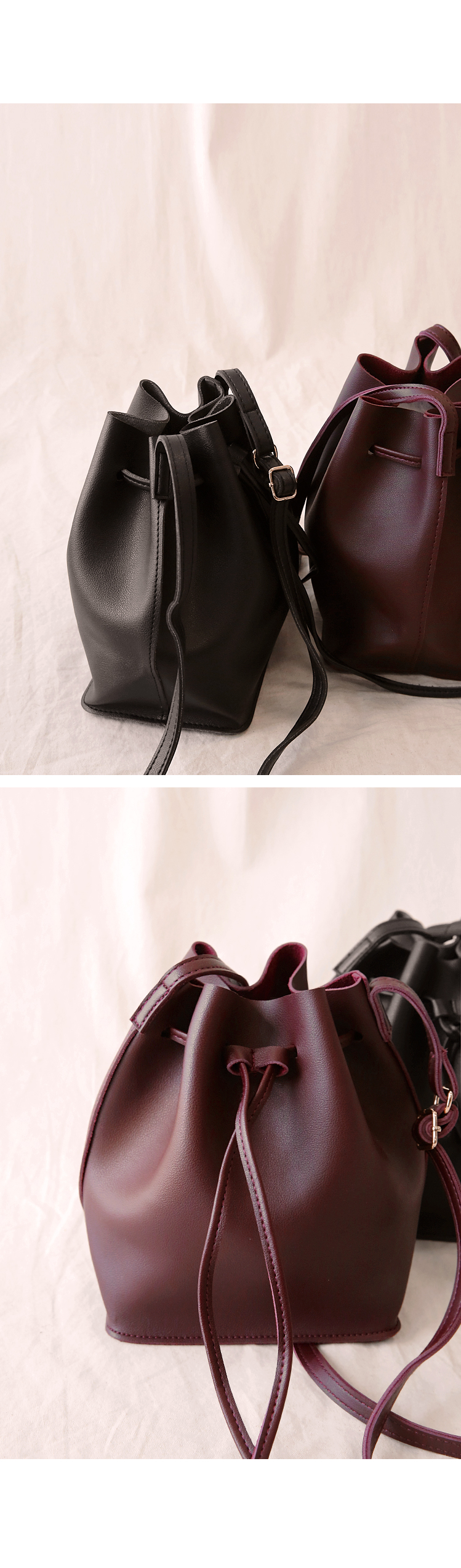DAILY LEATHER MINI BUCKET BAG