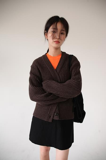 winter knit cardigan (3colors)
