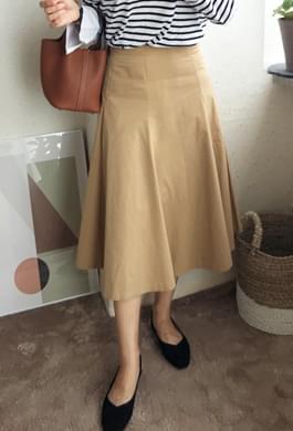 Chino Cotton Flared Skirt