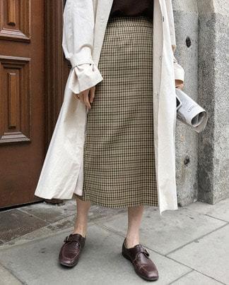 rome check skirt