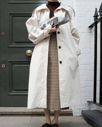 milk single trench coat