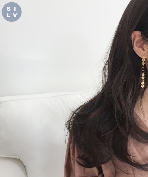 (silver925) breath earring