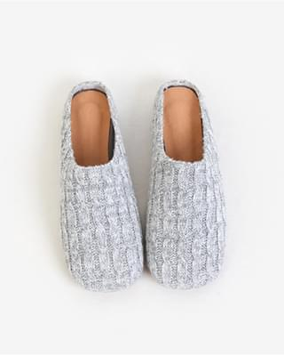 Knit Mule Slippers - 3 color