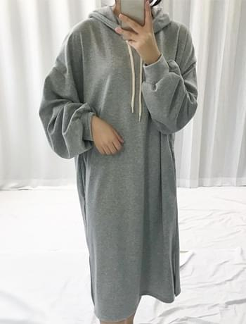 Marie Hood Cotton Long Dress