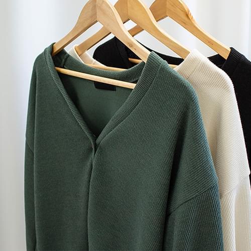 Ador Puff Sleeve V Neck Knit Cardigan