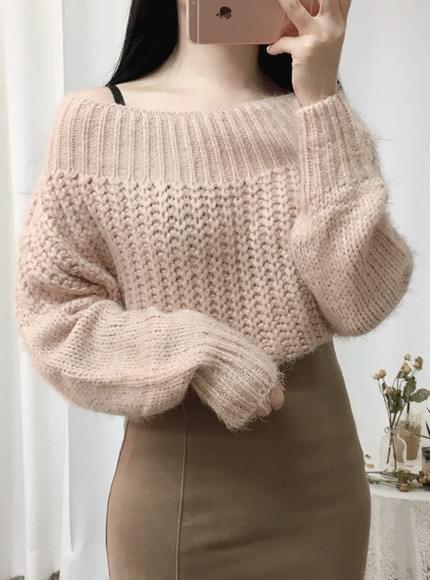 Hatchi off shoulder knit