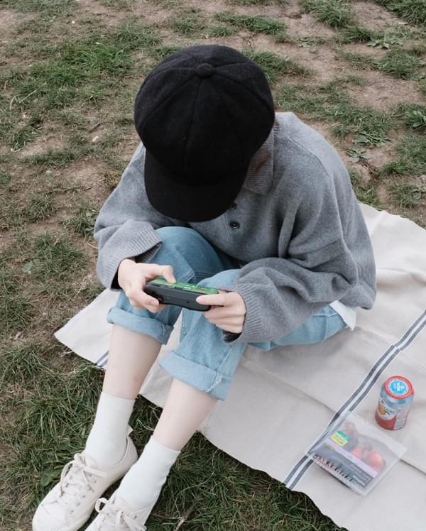 mango wool collar knit
