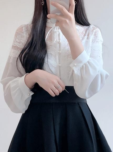 Coco Lace See-through blouse