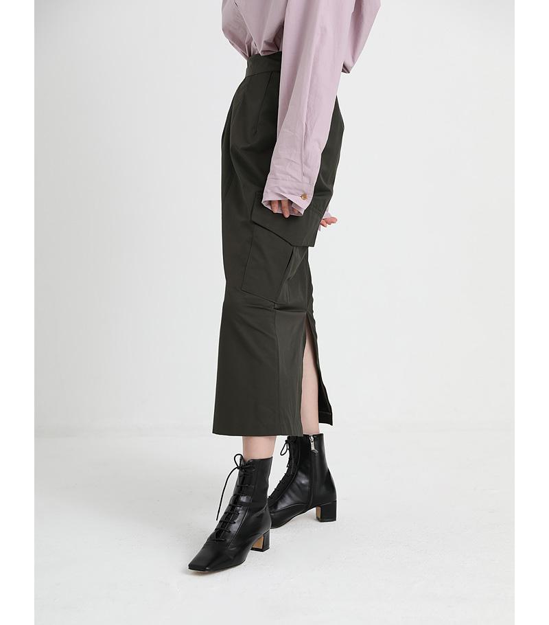 cargo pocket slit skirt (2colors)