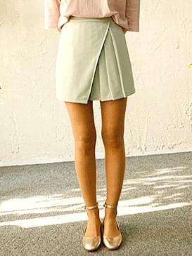 韓國空運 - Wrinkle wrap A line flare mark skirt 裙子