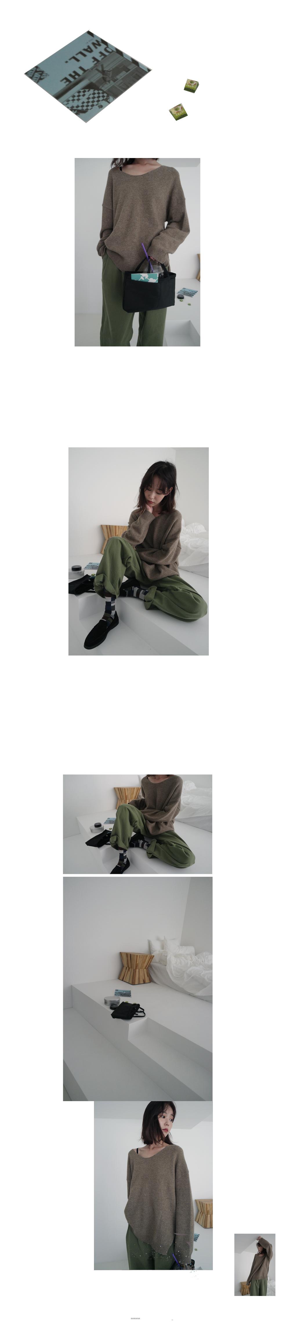 clean two tuck cotton pants (3colors)