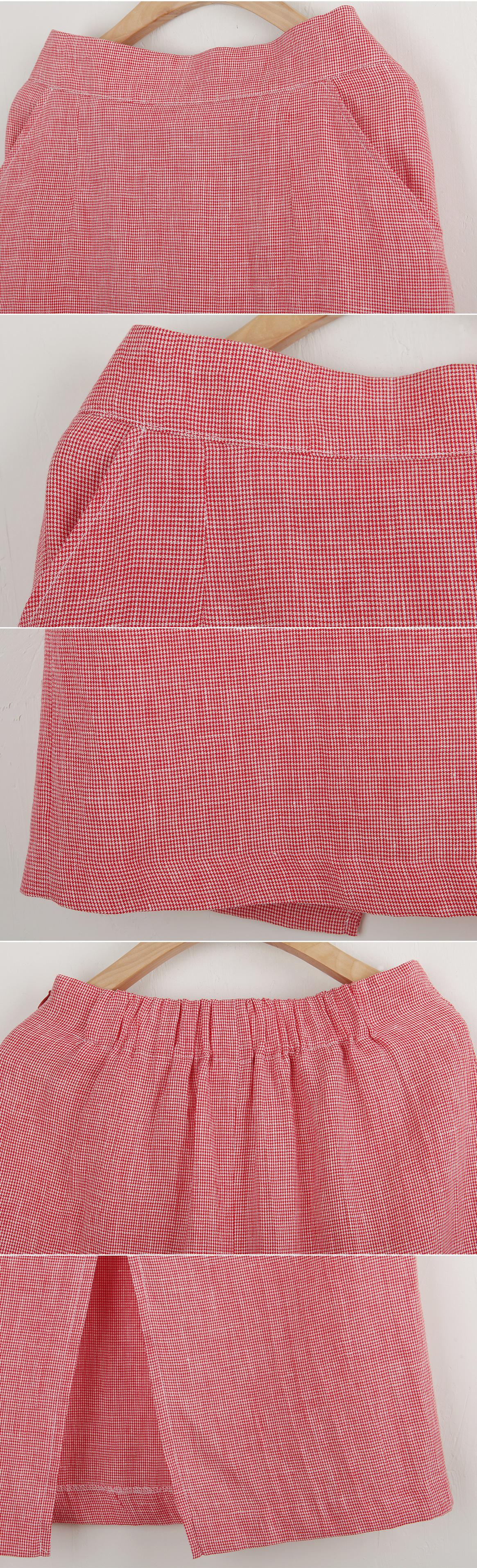 20% off Sale Pretty calm check linen skirt