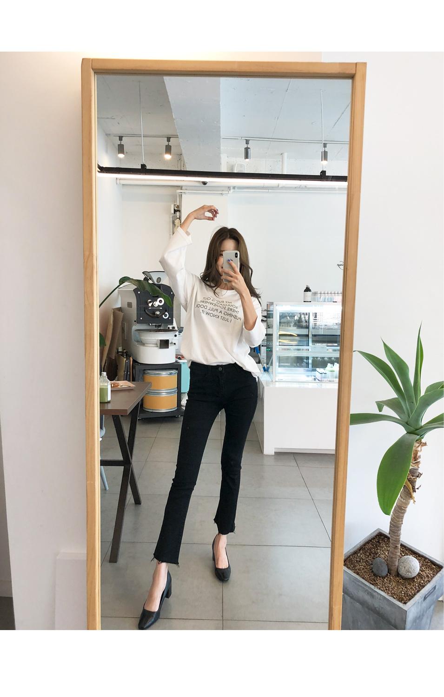 Straight line pants