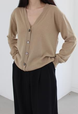 Deep v-neck cardigan (4colors)