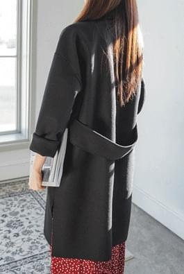 Open wool coat