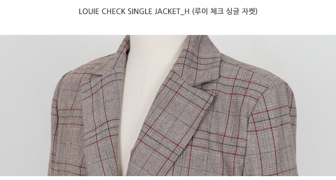Louie check single jacket_H (size : free)