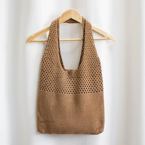 Burling knit shoulder bag