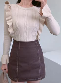 Knit with ruffles