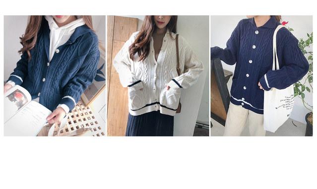 Color Line Knit Cardigan