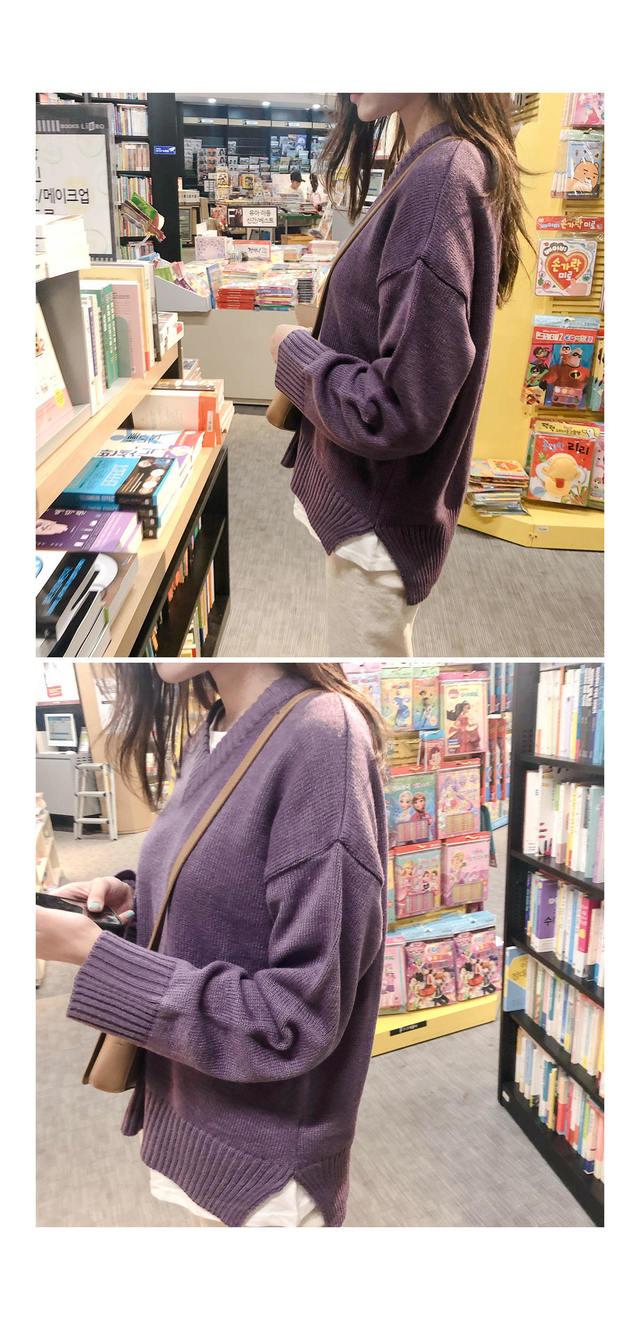 V-neck cutter knit