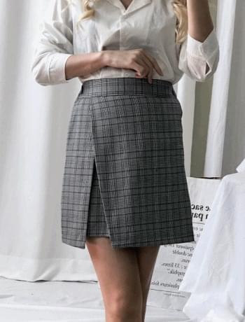 Beginning Glen check skirt