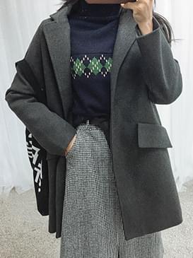 韓國空運 - Woolly Shua Half Court 大衣外套