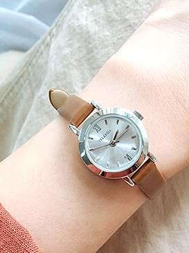 Cow leather watch watch