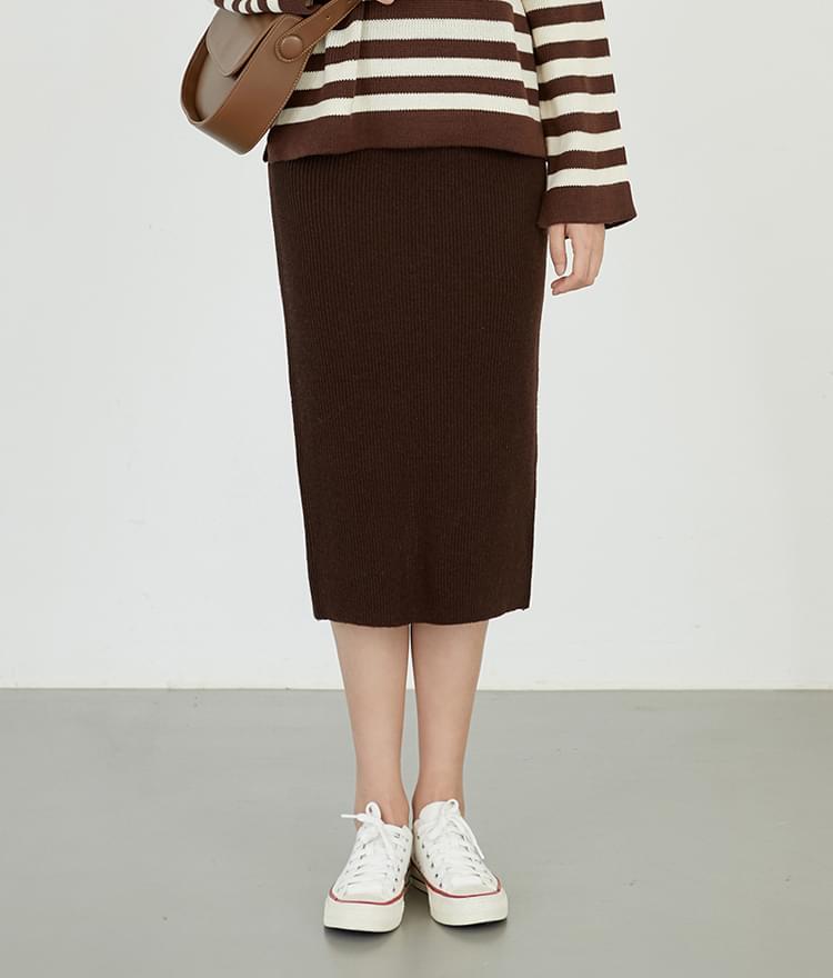 Slit Knit Skirt