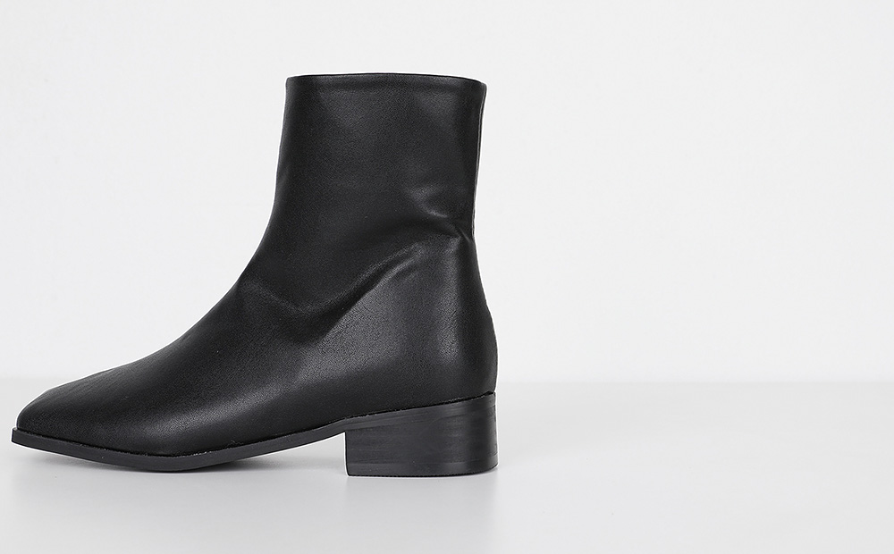 clean shape suede ankle boots (2colors)
