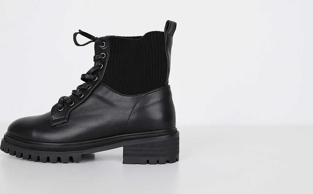 muffler warm ankle boots