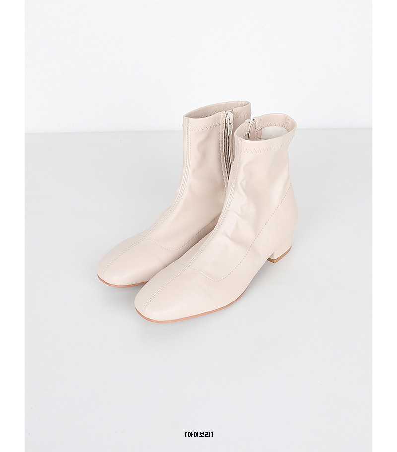 sewing cross ankle boots (4colors)
