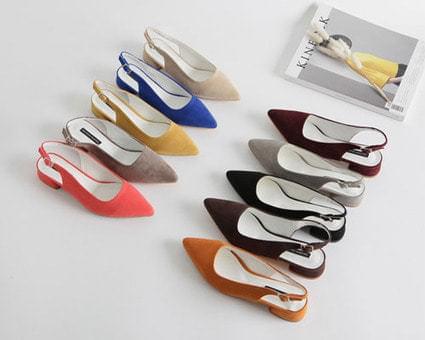 Oliver Slingback Flat Shoes