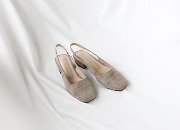 Cutting Suede Sling Back Flat