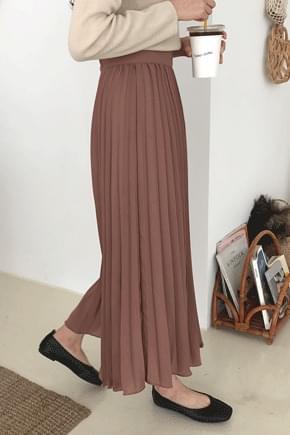 Akoshi-pon pleated long skirt