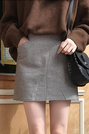 Hound check mini skirt