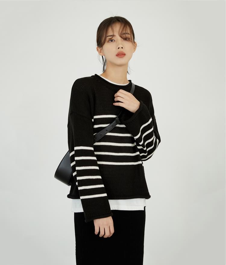 Wide Stripe Knit