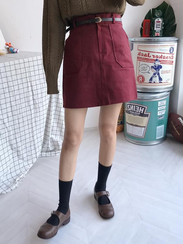 Cotton King Pocket Belt Skirt