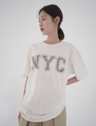 vintage NYC lettering T-shirt