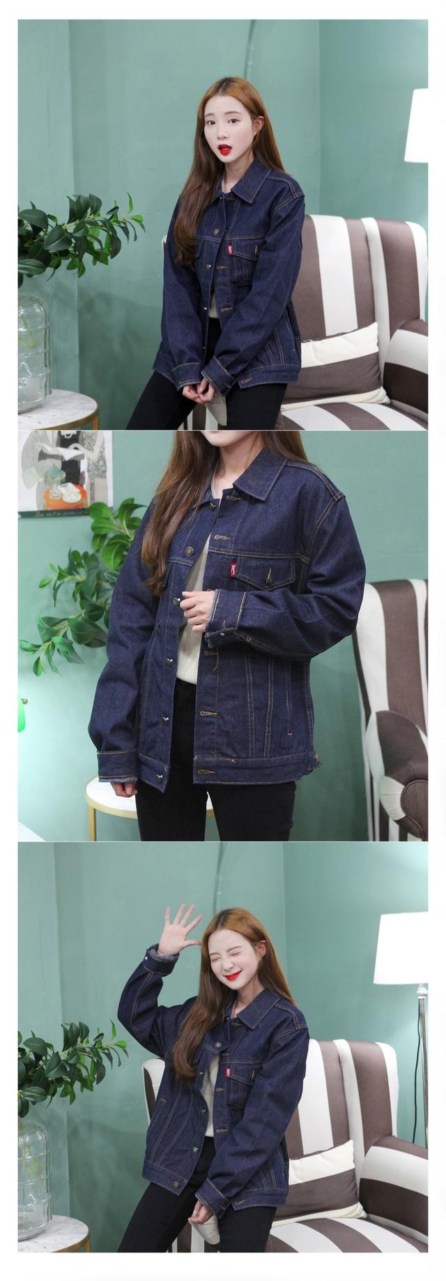 Long-sleeved kimono denim JK