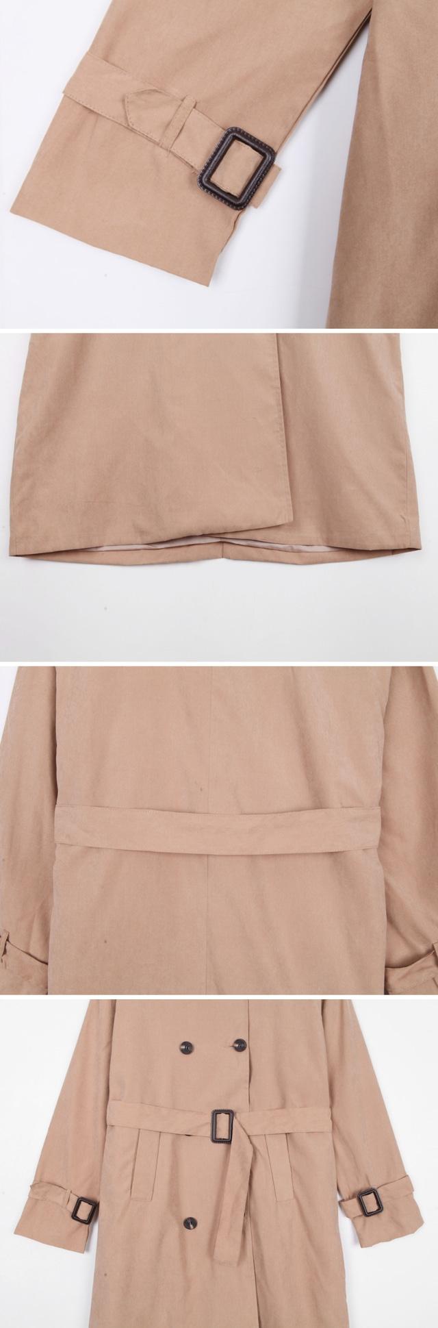 Soft trench coat