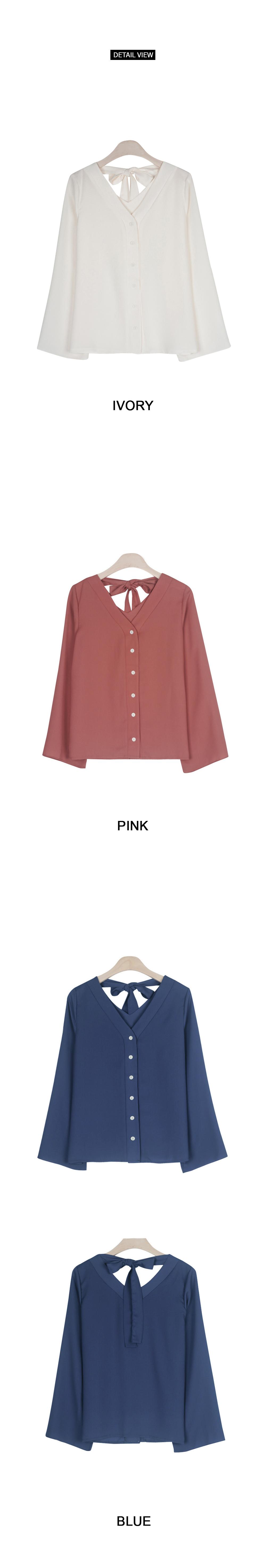 Moko back ribbon blouse