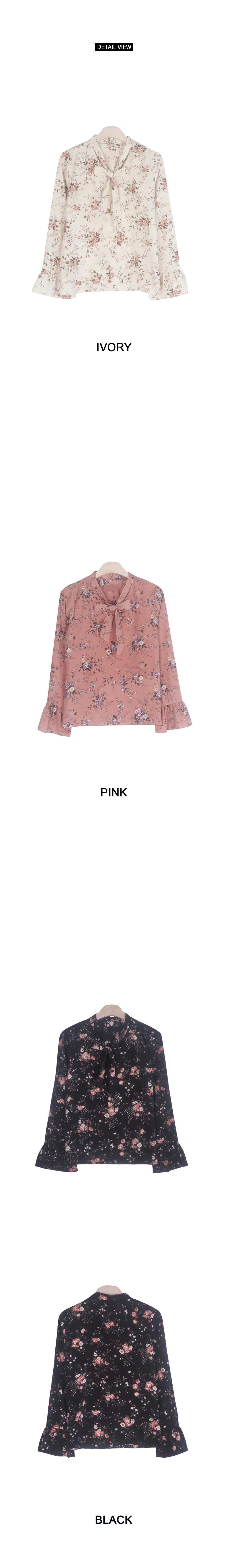 Pink Rose Ribbon Blouse