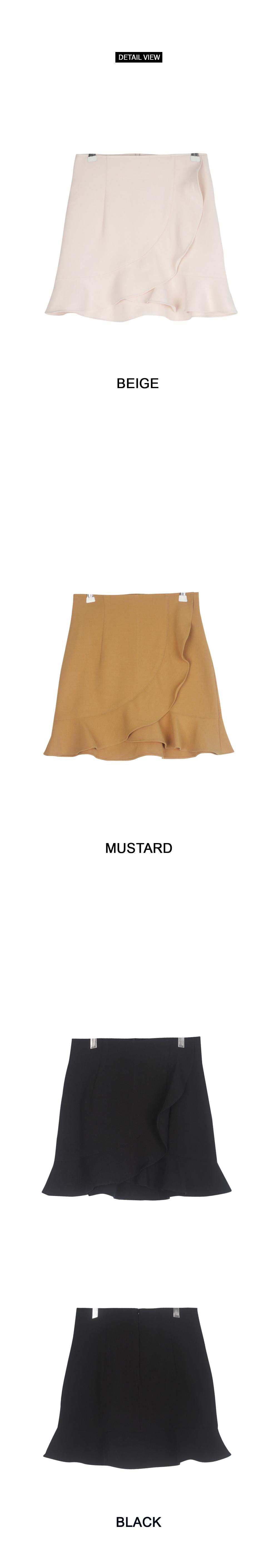 Kissing Frill Wrap Skirt