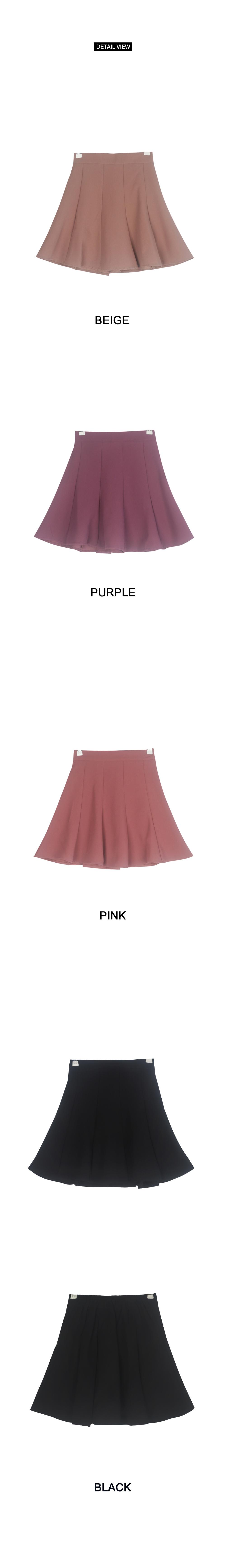 Sailor flared skirt