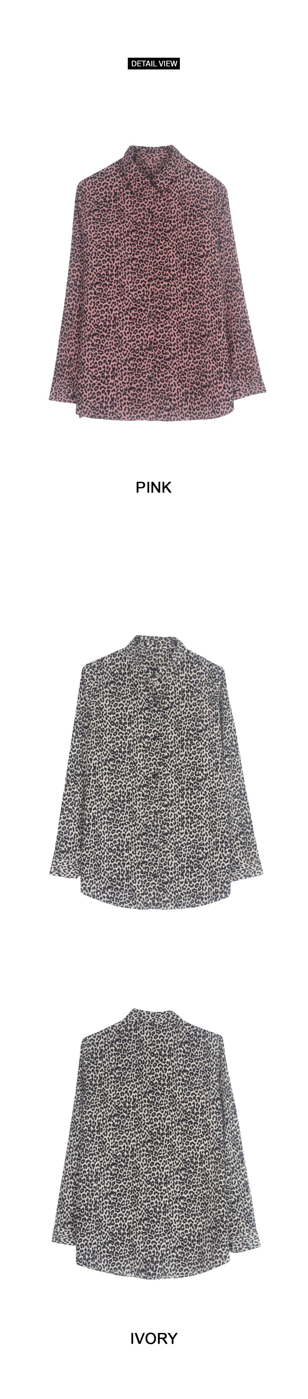 Leopard open blouse