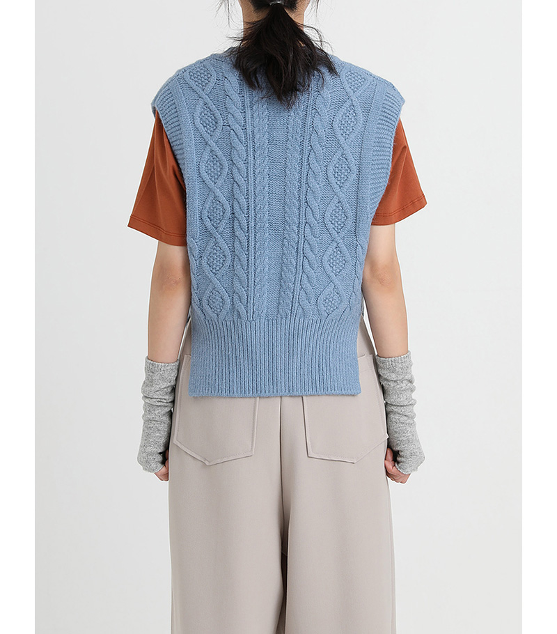 twist wool vest (4colors)